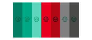 Branding 3 Vidas - Amostra de cores