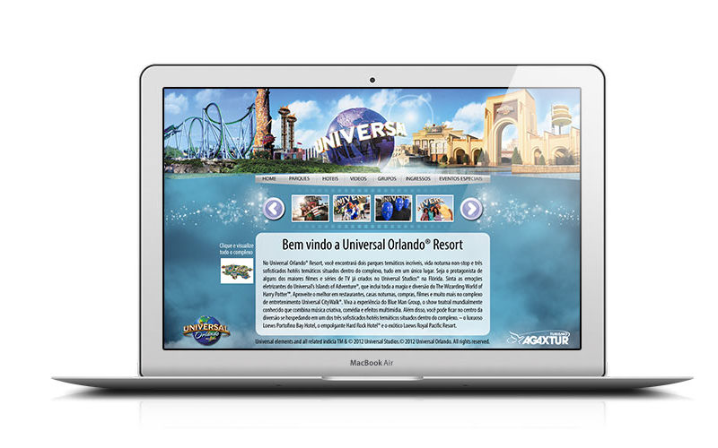 Hotsite Universal Orlando Resorts